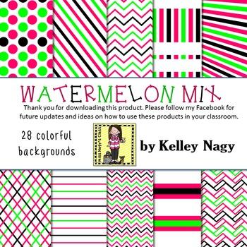 Watermelon Mix Digital Papers
