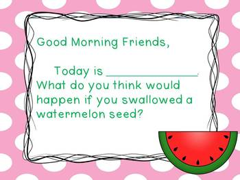 Watermelon- Morning Messages
