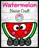 Watermelon Name Craft for Spring, Summer Literacy Center Activity