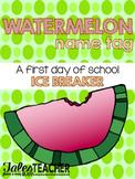 Watermelon Name Tag {B2S Ice Breaker}