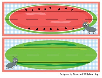 Watermelon Name Tags