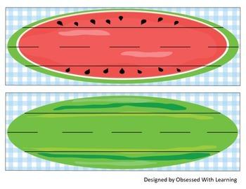 Watermelon Name Tags