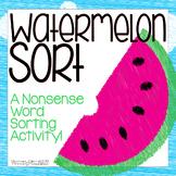 Watermelon Nonsense Word Sort (NWF)