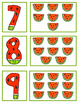 Watermelon Number Card Match 1-10