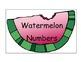 Watermelon Number Cards/Calendar Cards