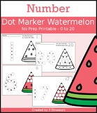 Watermelon Number Dot Marker & Counting