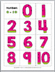 Summer Math Number Matching - Numeral, Ten Frame, Tally Mark, Number Word