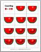 Summer Math Number Matching - Watermelon Theme