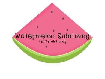 Watermelon Number Matching and Subitizing--printer friendly!