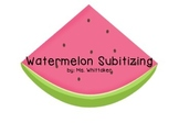 Watermelon Number Matching and Subitizing--printer friendly!