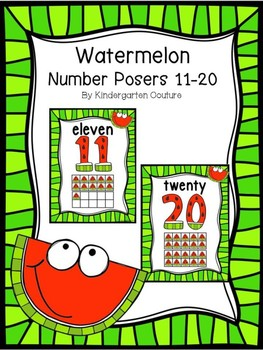 Watermelon Number Posters 11-20