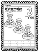 Watermelon Numbers 1-20: Color, Trace & Count
