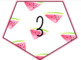 Watermelon Numbers 1-30 Bunting