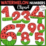 Watermelon Numbers Clipart 0-9