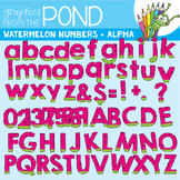 Watermelon Numbers and Alphabet Clipart