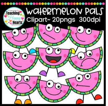 Watermelon Pals Clipart