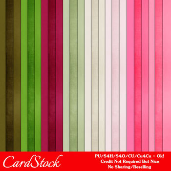 Watermelon Patch A4 size Card Stock Digital Papers