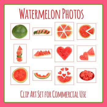 Watermelon Photos / Photograph Clip Art Set for Commercial Use
