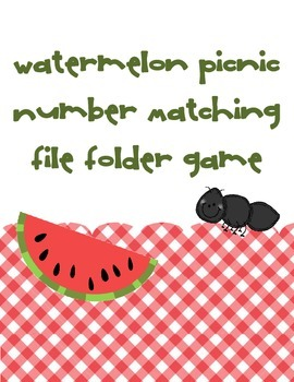 Watermelon Picnic Number Matching Game