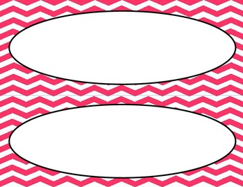 Watermelon Pink Chevron Classroom Labels and Tags