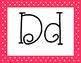 Watermelon Polka Dot Alphabet with 5 Fonts