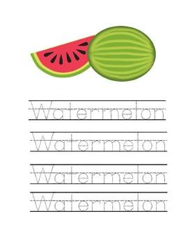 Watermelon Pre-K Activity Packet