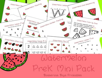graphic relating to Watermelon Printable named Watermelon PreK Printable Discovering Pack Offer