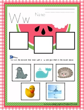 Watermelon Preschool Activity Printables By Mrs Grauer Tpt