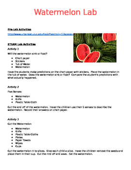 Watermelon STEAM/STEM Lab