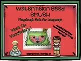Watermelon Seed SMUSH Mats for Speech Therapy