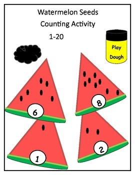 Watermelon Seeds Counting Activity with Self Check Guide