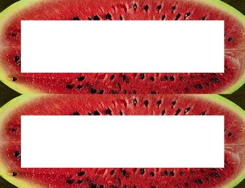Watermelon Seeds Desk Name Tag Plates Set