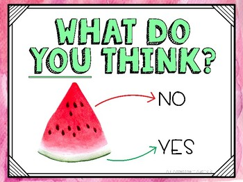 Watermelon Self Assessment FREEBIE