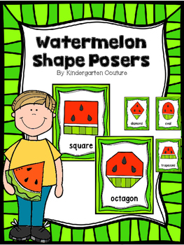 Watermelon Shape Posters And Cards