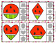 Watermelon Shapes Clip Cards