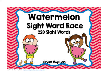 Watermelon Sight Word Race
