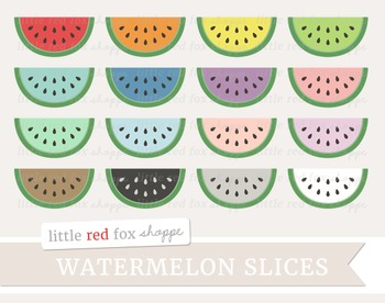 Watermelon Slice Clipart; Fruit, Summer