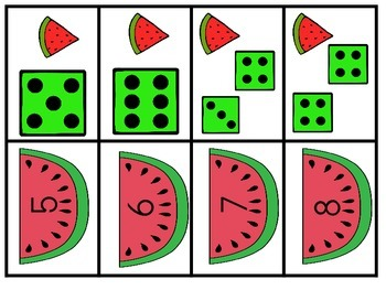 Watermelon Slice Making Numbers/Sorting Game