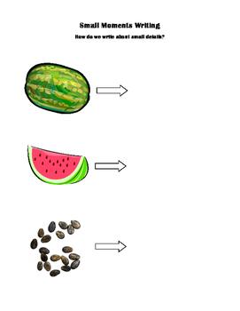 Watermelon Small Moments Graphic Organizer