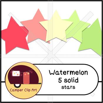 Watermelon Stars Glitter and Solid {CU - ok!} Pinks & Greens
