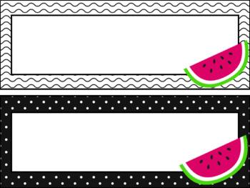 Watermelon Student Desk Name Plates- Classroom Decor