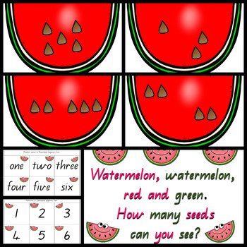 Watermelon Subitizing activity for whole class or small group work