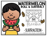 Watermelon Subtraction Freebie