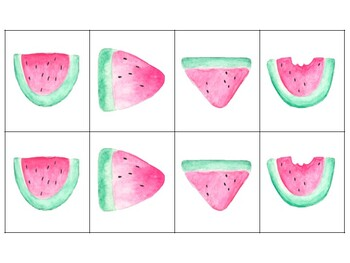 Watermelon Subtraction Matching Game