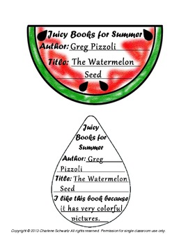 Watermelon Summer Book Reports