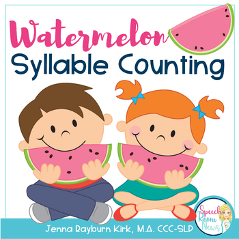 Watermelon Syllable Counting FREEBIE