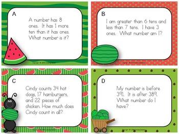 Watermelon Task Cards {Freebie!}