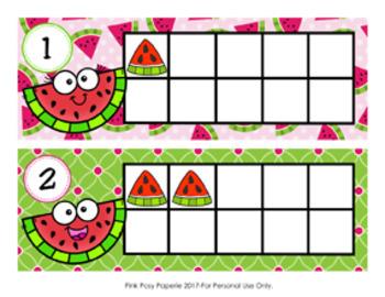 Watermelon Ten Frame Cards