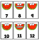 Watermelon Ten Frame Number Match  1-20