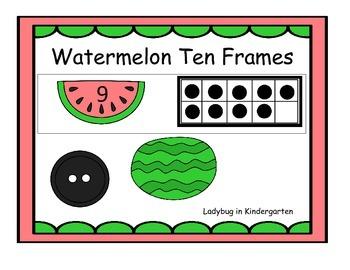 Watermelon Ten Frames